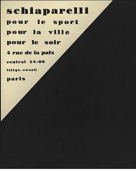 plaque boutique Schiaparelli