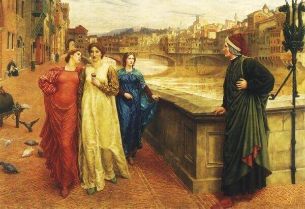 rencontre de Dante et Beatrice