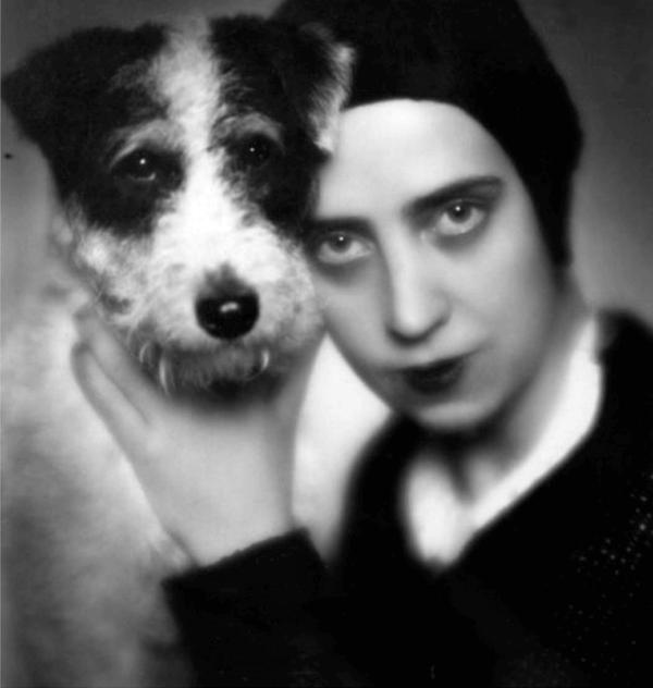 Elsa avec son chien