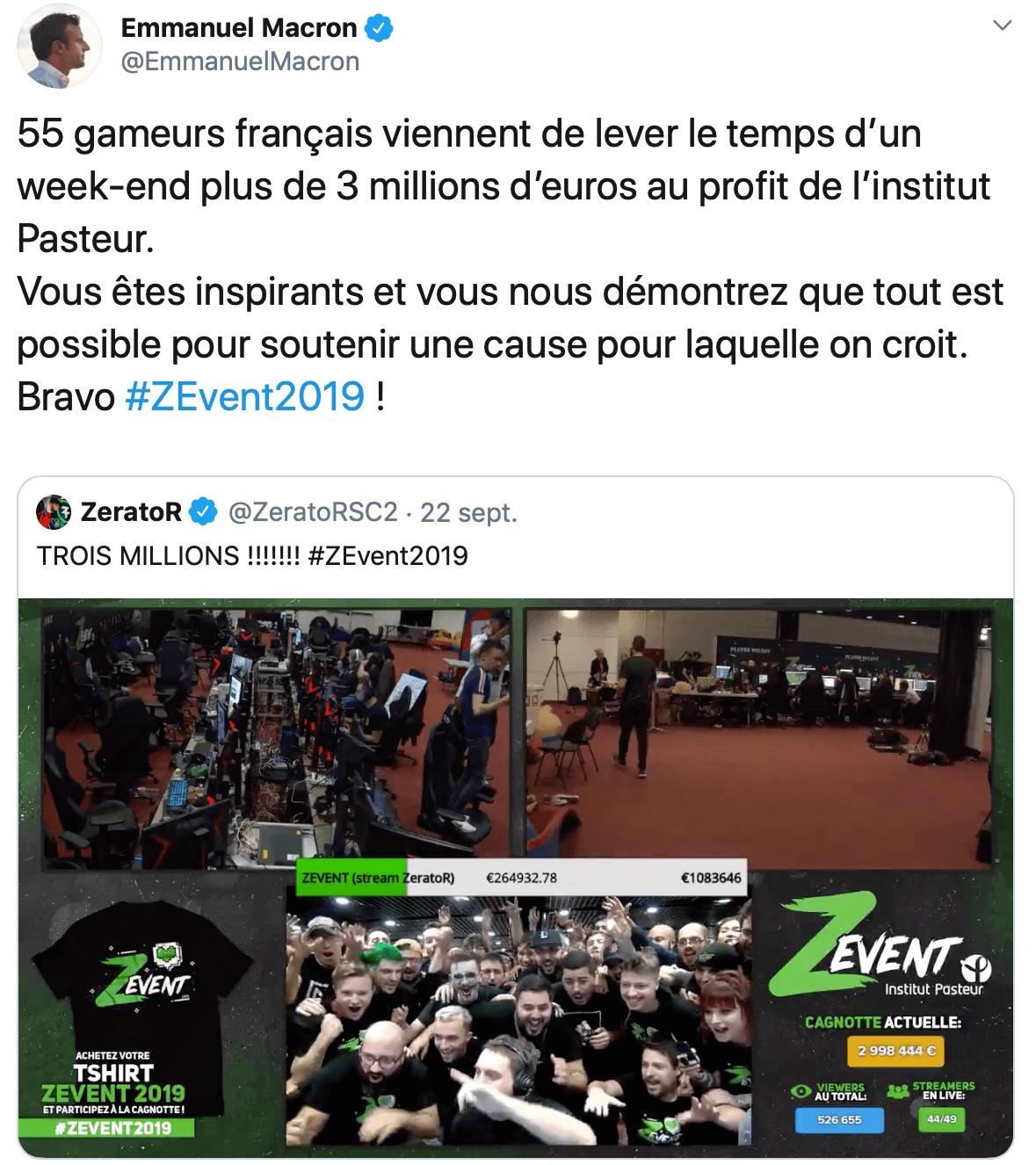 Le twit de Macron sur Pasteur