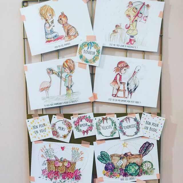 dessins et illustrations le canaris rose